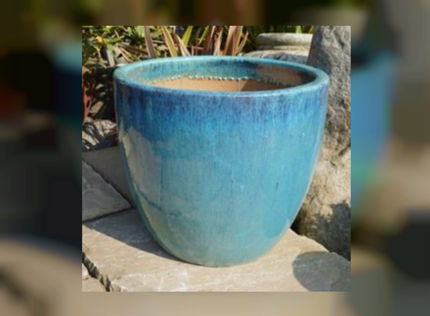 Customized view of Blue Ceramic Pots from Green Decor
