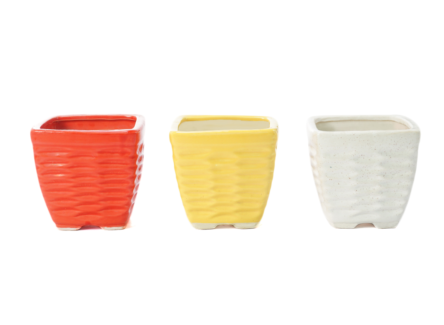 Ripple Shaped Pot Front View by the best online nursery shop Greendecor.