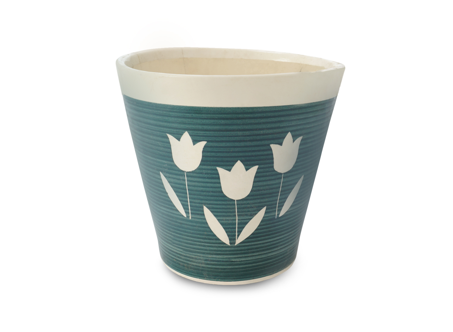 Flower Printed Pot Front View by the best online nursery shop Greendecor.